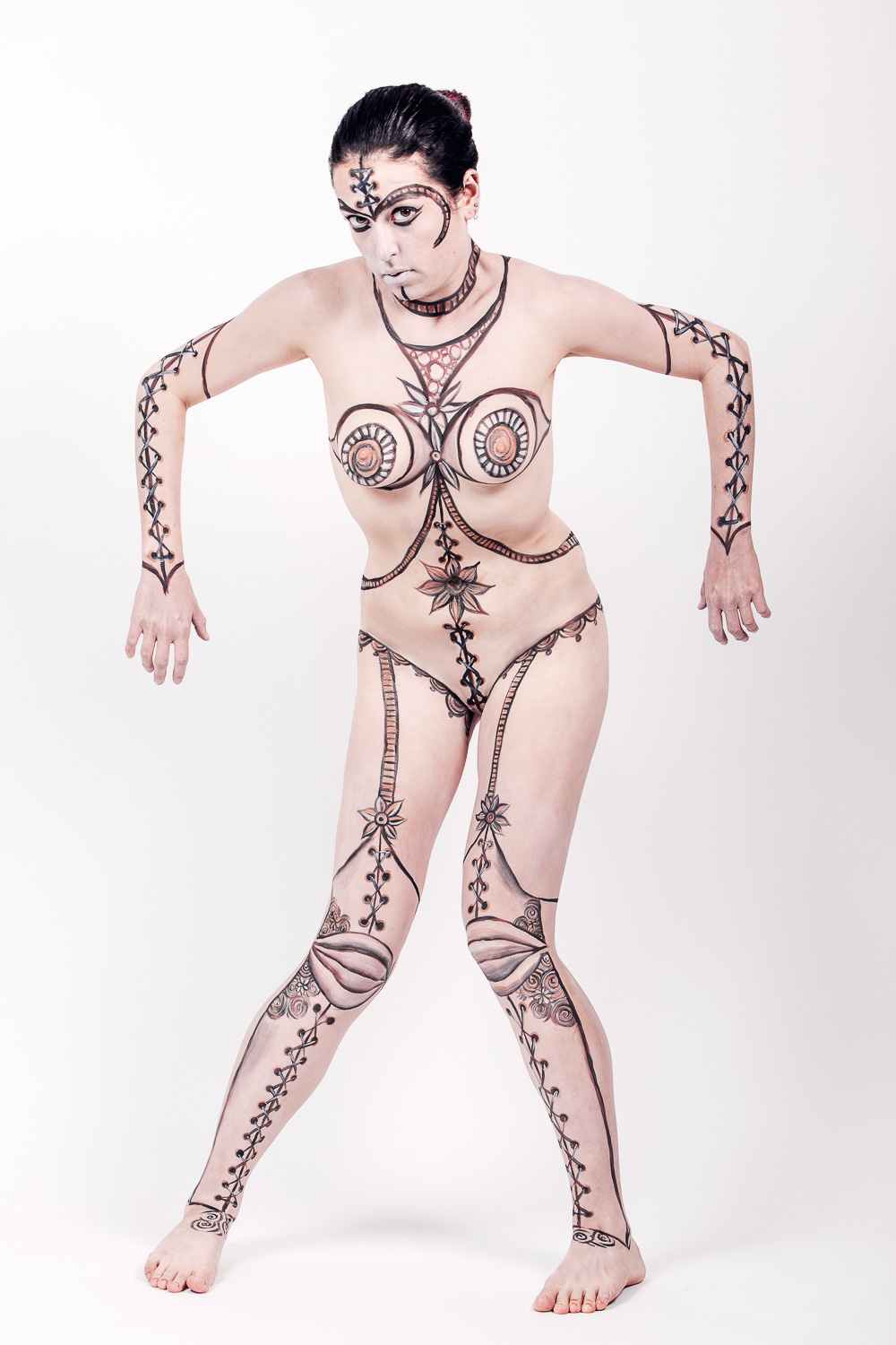 photo de bodypainting en studio