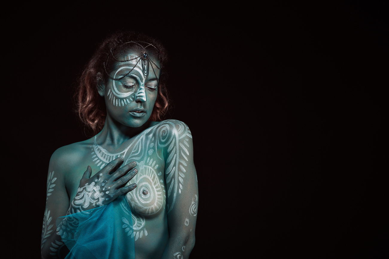 Photo studio bodypainting